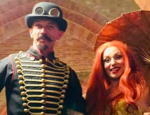 Case study: Steam Punk Edwardian Ball surrounded by dinosaurs!