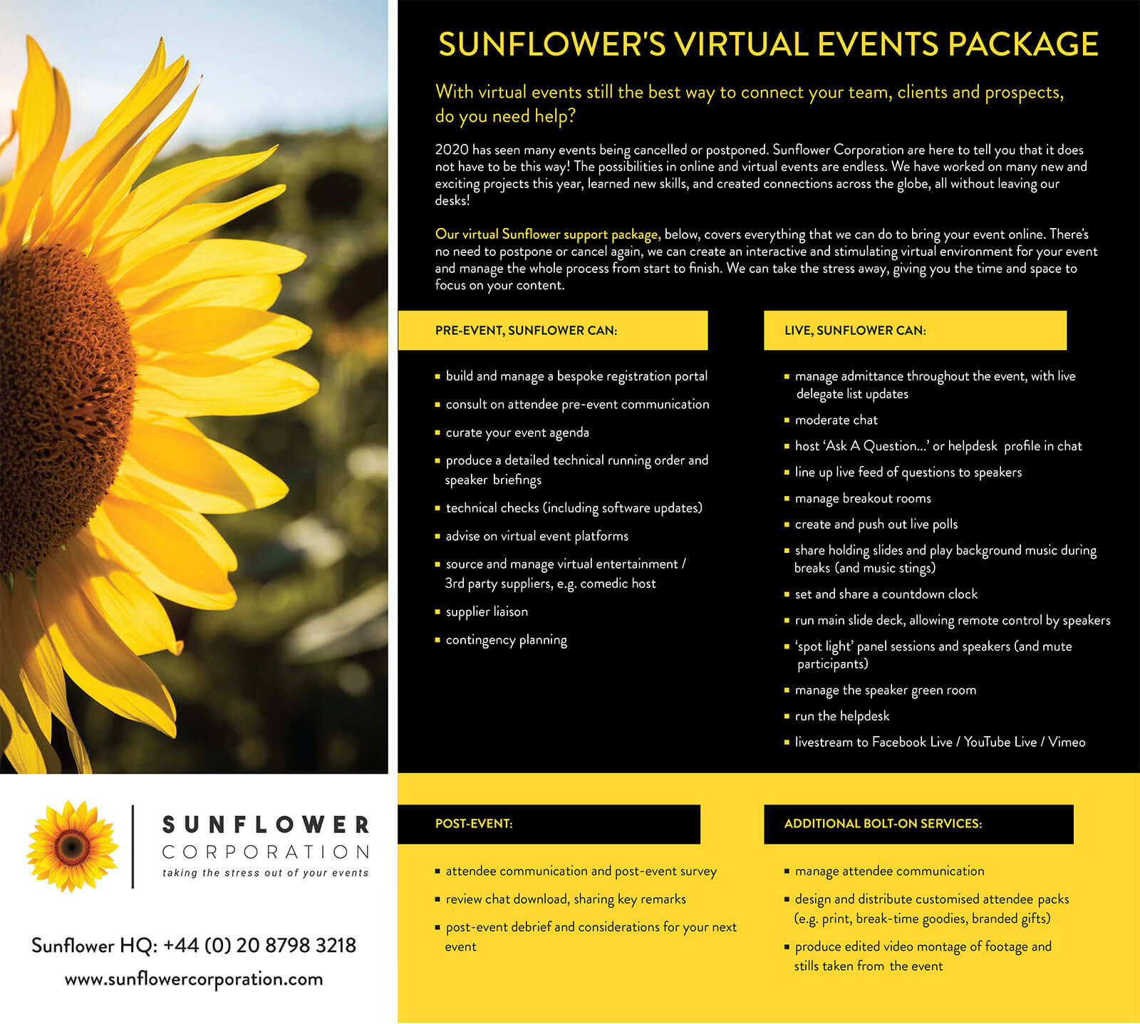 Sunflowers-Virtual-Events-Package